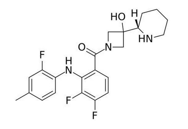 Struktur kimia cobimetinib.