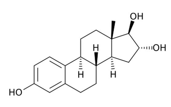 Estriol, salah satu jenis estrogen.