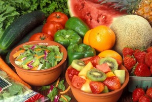 buah-buahan, sayuran