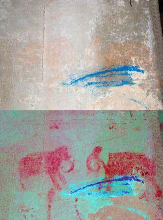 Lukisan gajah di dinding Angkor Wat
