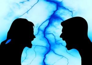 konflik, bertengkar