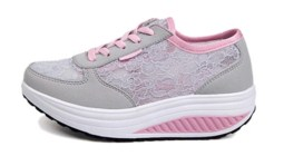 Women Running Breathable Comfortable Shoes (Grey Pink) - Lazada