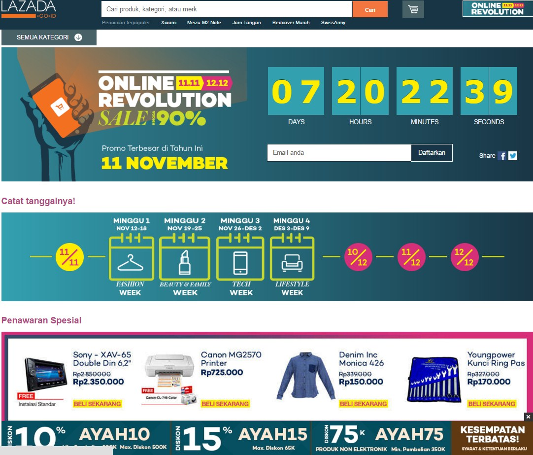 Lazada.co.id -Online Revolution 2015