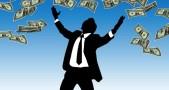 hujan uang, kebahagiaan