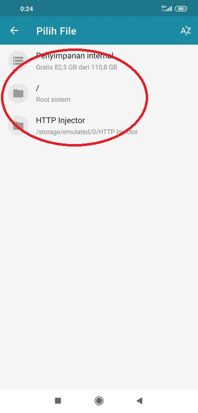 Setting HTTP Injector
