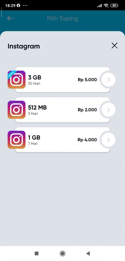 paket topping instagram by u