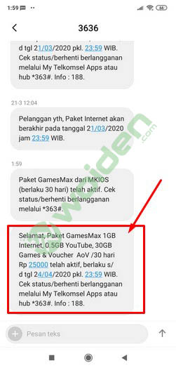 paket GamesMAX 30gb telkomsel