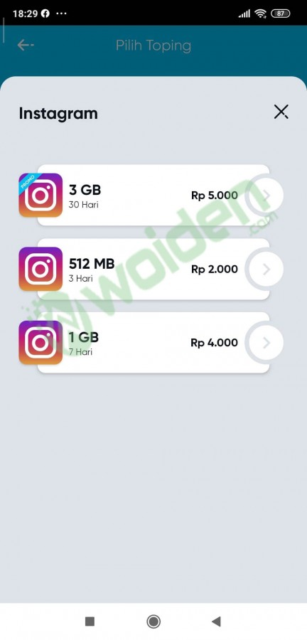 paket topping by u instagram