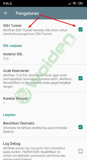 Cara Setting SSH di KPNTunnel