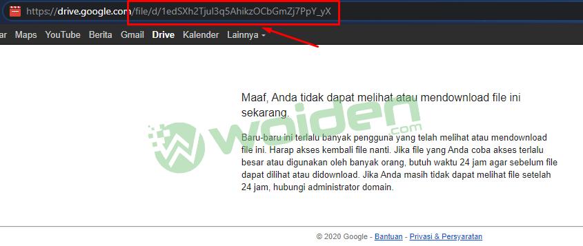 Trik download di google drive yang limit