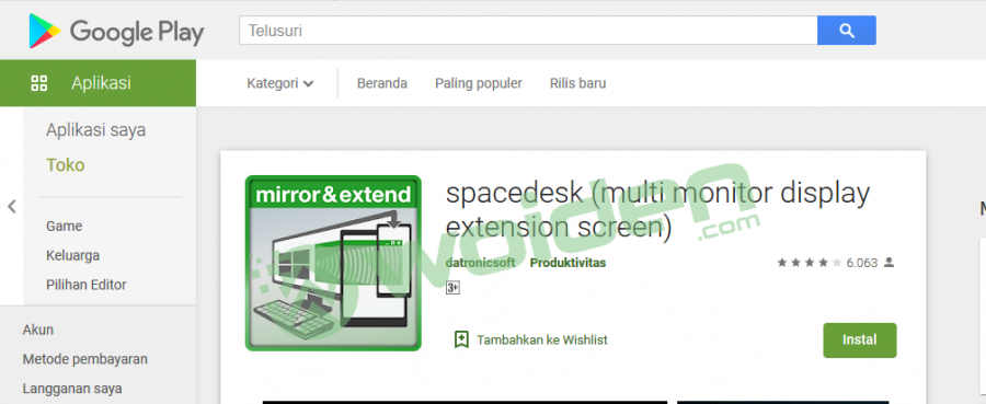Spacedesk Versi Android