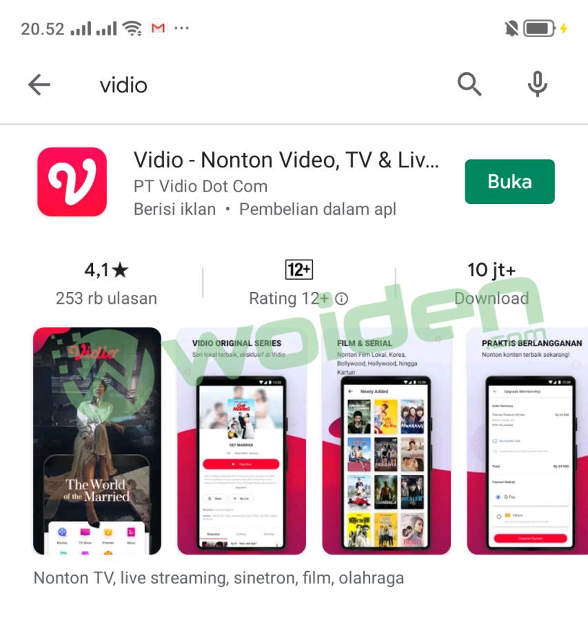 Aplikasi vidio playstore